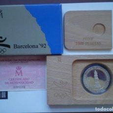 Monedas Juan Carlos I: 2000 PESETAS PLATA 1990 JUEGOS OLIMPICOS BARCELONA 92 - CASTELLERS PROOF. Lote 225805530