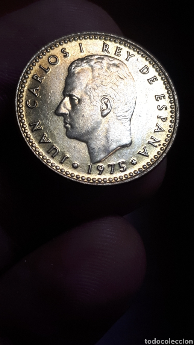 Monedas Juan Carlos I: 1 peseta Ñ Chilena 1975 *78 Sin Circular - Foto 3 - 225920090