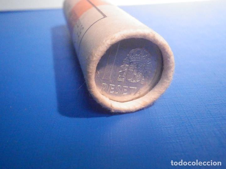 Monedas Juan Carlos I: Cartucho FMNT - Fabrica Nacional de Moneda y Timbre - 50 Monedas 1 Peseta 1987 - S/C - Foto 3 - 226207110