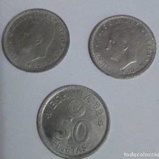 Monedas Juan Carlos I: 3 MONEDAS DE 50 PESETAS 1980*80 ESPAÑA 82. Lote 227013665