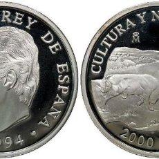 Monnaies Juan Carlos I: ESPAÑA 2000 PESETAS PLATA 1994 PROOF TOROS DE LIDIA - CULTURA Y NATURALEZA. Lote 188640886