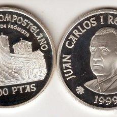 Monnaies Juan Carlos I: ESPAÑA 2000 PESETAS 1999 SAN MARTIN DE FROMISTA - AÑO JUBILAR COMPOSTELANO. Lote 227844890