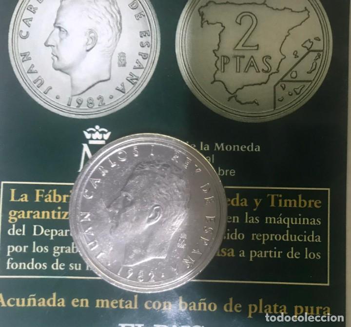 Monedas Juan Carlos I: 2 PESETAS DEL AÑO 1982 - FÁBRICA NACIONAL DE MONEDA Y TIMBRE - Foto 2 - 227929205