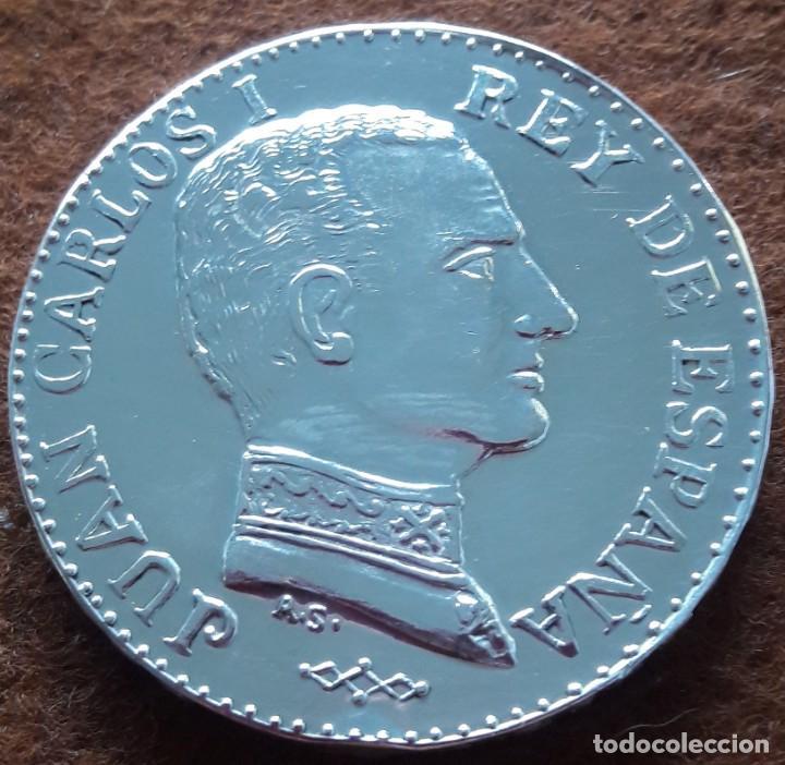 MEDALLA DE PLATA,JUAN CARLOS I (DE ORIGEN PRIVADO) (Numismática - España Modernas y Contemporáneas - Juan Carlos I)
