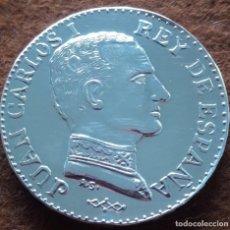 Monedas Juan Carlos I: MEDALLA DE PLATA,JUAN CARLOS I (DE ORIGEN PRIVADO). Lote 228126455