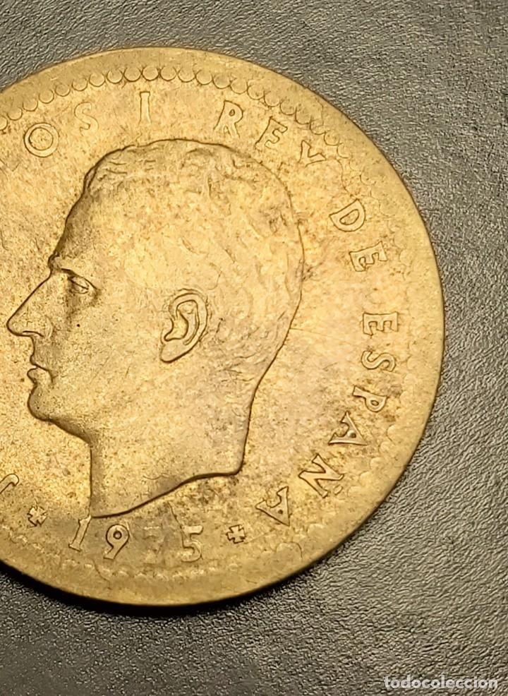 ERROR ÚNICO: 1 PESETA 1975 MUY MAL ACUÑADA Y CON EL CANTO LISO Y ESTRIADO. VER IMÁGENES (Numismática - España Modernas y Contemporáneas - Juan Carlos I)