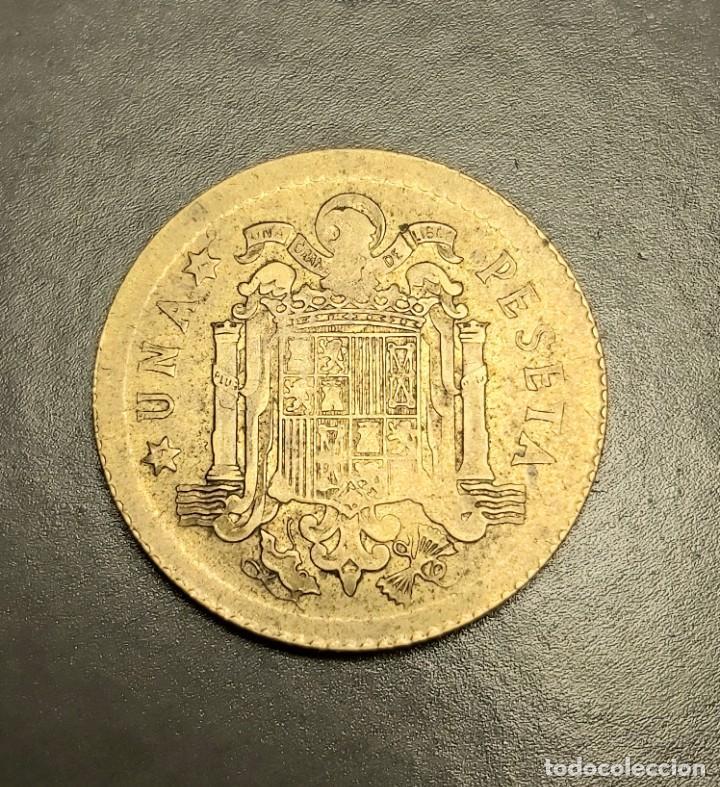 Monedas Juan Carlos I: ERROR ÚNICO: 1 PESETA 1975 MUY MAL ACUÑADA Y CON EL CANTO LISO Y ESTRIADO. VER IMÁGENES - Foto 5 - 228825405