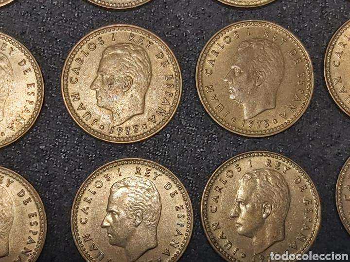 Monedas Juan Carlos I: LOTE 12 MONEDAS DE 1 PESETA 1975 VARIANTE CHILENA - Foto 2 - 230442750