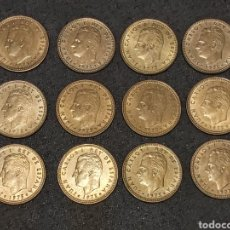 Monedas Juan Carlos I: LOTE 12 MONEDAS DE 1 PESETA 1975 VARIANTE CHILENA. Lote 230442750