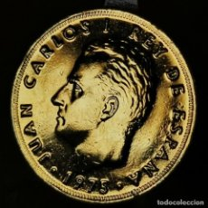 Monete Juan Carlos I: AB018. ORO 24KT. IMPRESCINDIBLE VER DESCRIPCIÓN. 25 PESETAS 1975 *77. Lote 233050530