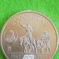 Monedas Juan Carlos I: 2000 PESETAS DE PLATA DE 1997. DE QUIJOTE. PRECIOSA MONEDA.. Lote 234473470