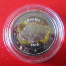 Monedas Juan Carlos I: MONEDA DE 2 EUROS ESMALTADA. 2015 CUEVAS DE ALTAMIRA. Lote 235068355