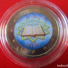 Monedas Juan Carlos I: MONEDA DE 2 EUROS ESMALTADA. 2007 TRATADO ROMA. Lote 235070950