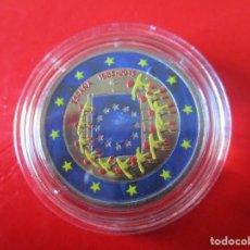 Monedas Juan Carlos I: MONEDA DE 2 EUROS ESMALTADA. 2015. 30 ANIVERSARIO DE LA BANDERA EUROPEA. Lote 235073065