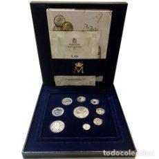Monedas Juan Carlos I: ESPAÑA ESTUCHE OFICIAL CON LAS ULTIMAS PESETAS EN PLATA 2001 CON LIBRO Y CERTIF.. Lote 235251775