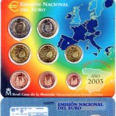 Monedas Juan Carlos I: CARTERA OFICIAL FNMT ESPAÑA EURO 2003 - 8 VALORES. Lote 235276000