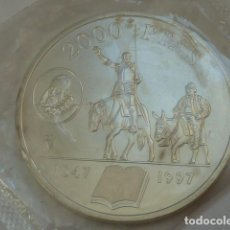 Monedas Juan Carlos I: MONEDA DE PLATA DE 2000 PESETAS DE 1997 CONMEMORATIVA EL QUIJOTE, S/C. Lote 235328220