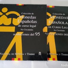 Monedas Juan Carlos I: CARTERA OFICIAL DE LA F.N.M.T CON LA COLECCION DEL MONEDAS DEL AÑO 1995.. Lote 235541160