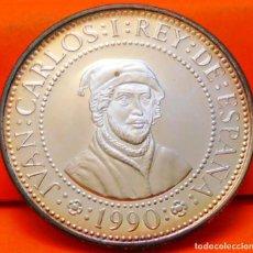 Monnaies Juan Carlos I: ESPAÑA, 500 PESETAS,1990. 2ª SERIE DEL V CENT. DESC. AMÉRICA. PLATA LEY 925. PESO: 6,75 GR.. Lote 236096590