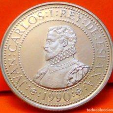 Monnaies Juan Carlos I: ESPAÑA, 200 PESETAS,1990. 2ª SERIE DEL V CENT. DESC. AMÉRICA. PLATA LEY 925. PESO: 3,37 GR.. Lote 236105430