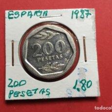 Monedas Juan Carlos I: 3403 ) ESPAÑA,,200 PESETAS 1987 EN ESTADO MUY BUENO. Lote 236344530