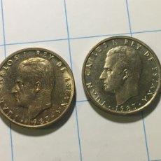 Monedas Juan Carlos I: ESPAÑA DOBLE 100 PESETAS 1983 JUAN CARLOS I FLOR DE LIS ARRIBA Y ABAJO UNA MUY BUEN ESTADO Y OTRA SC. Lote 236632185