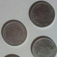 Monedas Juan Carlos I: 5 MONEDAS PESETA JUAN CARLOS I AÑOS 1985/86/87/88/89. Lote 236662900