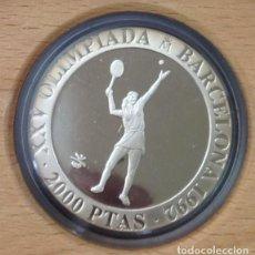 Monedas Juan Carlos I: MONEDA 2000 PESETAS BARCELONA 92.TENIS..PLATA . PROOF. Lote 236698810