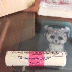 Monnaies Juan Carlos I: CARTUCHO DE 1 PESETAS 1980 ESTRELLA * 19 82 JUAN CARLOS I MONEDAS 50 SIN CIRCULAR COMPLETO. Lote 236707385