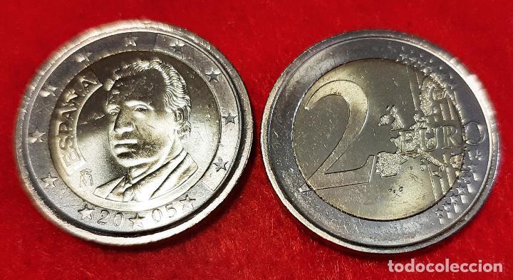 MONEDA 2 EUROS ESPAÑA AÑO 2005 REY JUAN CARLOS I SIN CIRCULAR NUEVA DE CARTUCHO ORIGINAL (Numismática - España Modernas y Contemporáneas - Juan Carlos I)