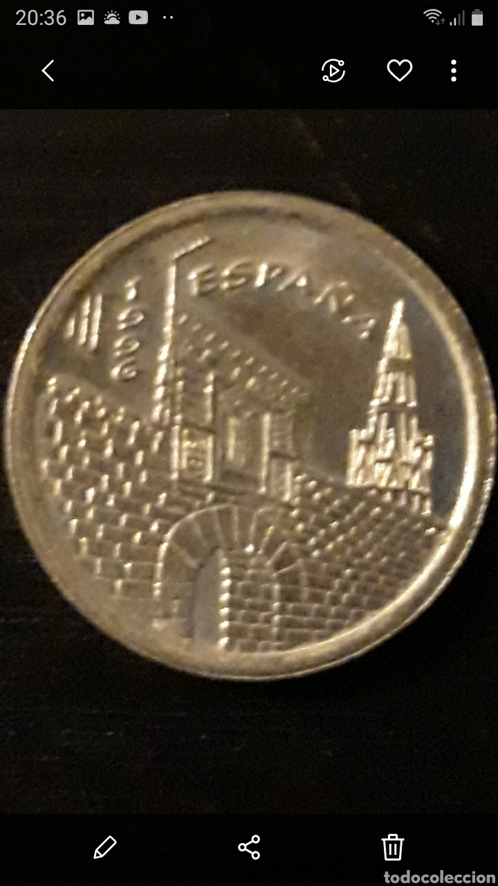 Monedas Juan Carlos I: Moneda 5 ptas RIOJA - Foto 2 - 236993490