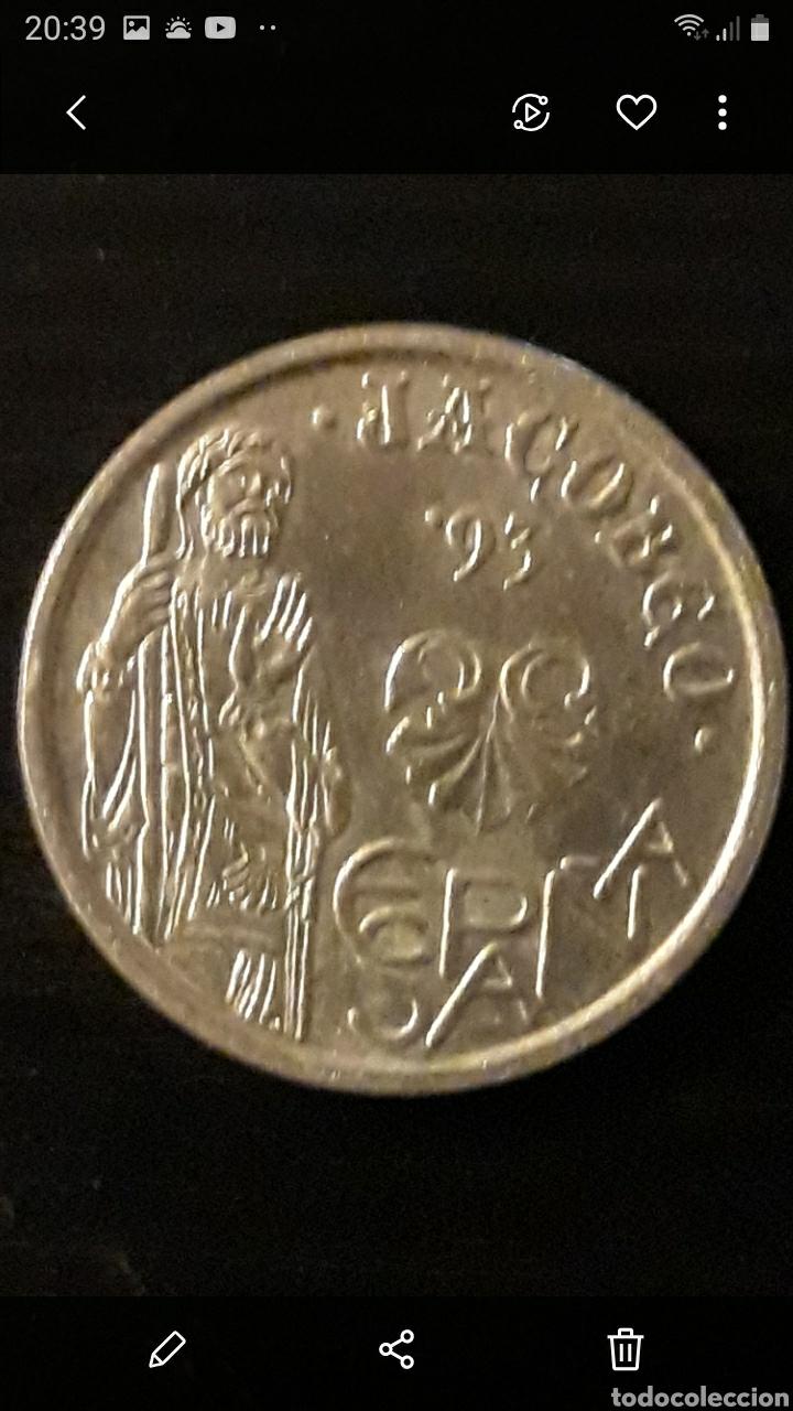 Monedas Juan Carlos I: Moneda 5 ptas XACOBEO - Foto 2 - 236994385