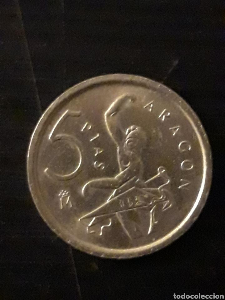 MONEDA 5 PTAS ARAGON (Numismática - España Modernas y Contemporáneas - Juan Carlos I)
