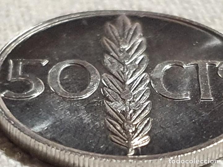 Monedas Juan Carlos I: 50 céntimos 1975 *76 - SC/BU - Rey J. C. I - excelente acuñación - 1976 - Foto 3 - 237007225