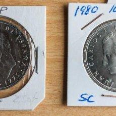 Monedas Juan Carlos I: LOTE 2 MONEDAS DE 100 PTAS DE J.CARLOS, ESTADO S.C., DE 1975 Y 1980. Lote 237146075