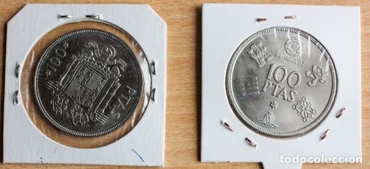 Monedas Juan Carlos I: LOTE 2 MONEDAS DE 100 PTAS DE J.CARLOS, ESTADO S.C., DE 1975 Y 1980 - Foto 2 - 237146075