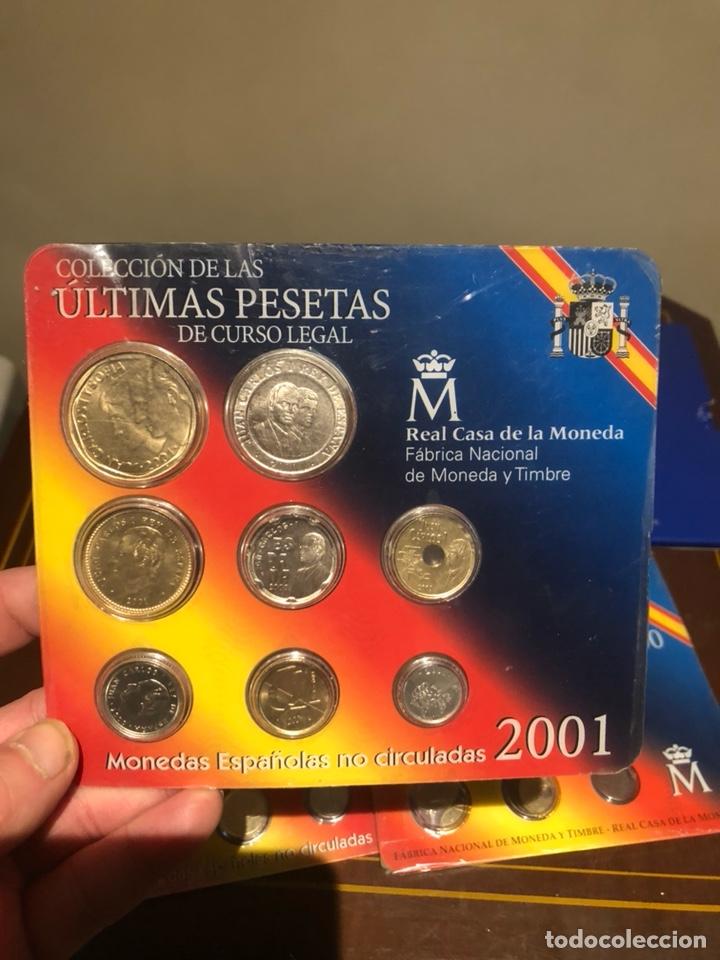 Monedas Juan Carlos I: Lote con 7 blister con monedas de Juan Carlos - Foto 2 - 241077145