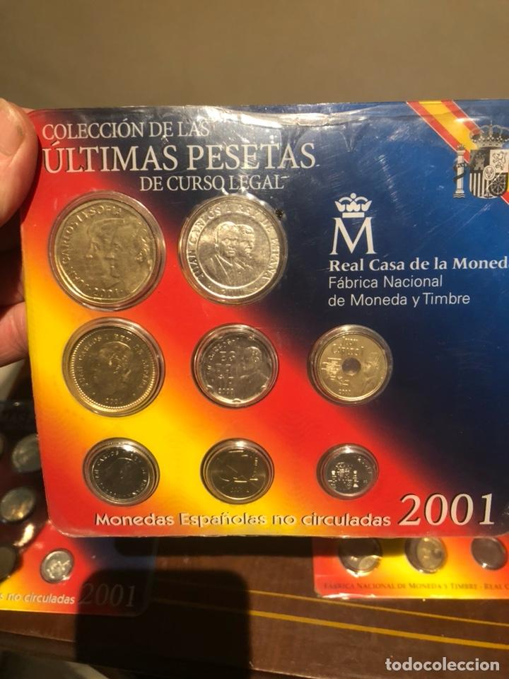 Monedas Juan Carlos I: Lote con 7 blister con monedas de Juan Carlos - Foto 3 - 241077145