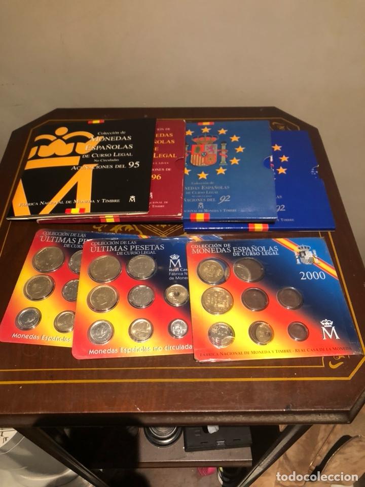 LOTE CON 7 BLISTER CON MONEDAS DE JUAN CARLOS (Numismática - España Modernas y Contemporáneas - Juan Carlos I)