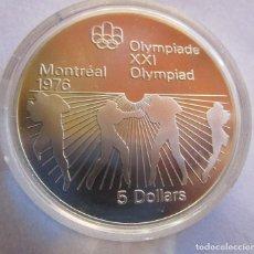 Moedas Juan Carlos I: CANADA . 5 DOLARES DE PLATA . XXI OLIMPIADA DE MONTREAL .TOTALMENTE NUEVA. Lote 241980345