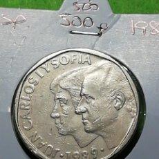 Monedas Juan Carlos I: 500 PESETAS DE 1989. JUAN CARLOS I DE ESPAÑA Y SOFÍA. USADA. ADJUNTO PEDIDOS. Lote 242894315