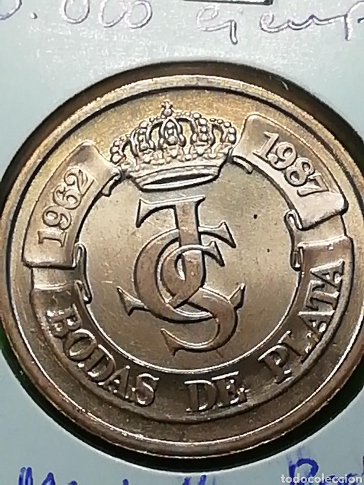 Monedas Juan Carlos I: BODAS DE PLATA. E87. CECA DE MADRID. SIN CIRCULAR. - Foto 2 - 242897050