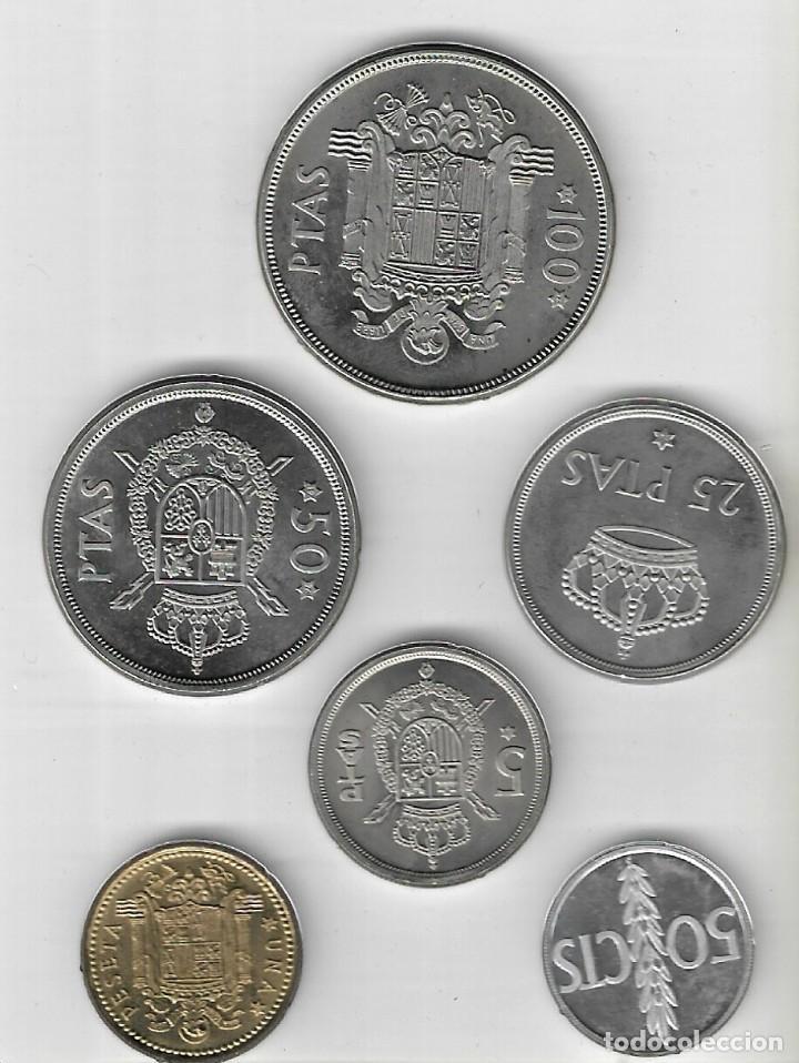 Monedas Juan Carlos I: CARTERA - PRUEBAS NUMISMÁTICAS - FABRICA NACIONAL DE MONEDA Y TIMBRE (Madrid) - 1976. - Foto 5 - 242974690