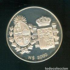 Monedas Juan Carlos I: NUMULITE F0130 MEDALLA VISITA DE LOS REYES DE ESPAÑA A URUGUAY 1983 N$ 2000 CON CERTIFICADO ESTUCHE. Lote 243065805