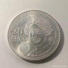 Monedas Juan Carlos I: MONEDA PLATA ESPAÑA 2011 - 20 EUROS - CENTENARIO DIA INTERNACIONAL DE LA MUJER - CLARA CAMPOAMOR. Lote 243077005