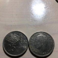 Monedas Juan Carlos I: MONEDAS DE 25 PESETAS. Lote 243413745