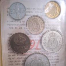 Monedas Juan Carlos I: LOTE 6 MONEDA ESTADO ESPAÑOL SIN CIRCULAR. Lote 243557730