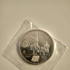 Monedas Juan Carlos I: MONEDA DE PLATA 2000 PESETAS AÑO 1997 BANCO DE ESPAÑA. CERVANTES. QUIJOTE. EN SOBRE ORIGINAL. SC. Lote 243602510
