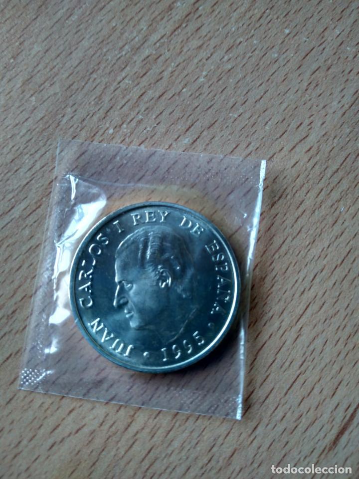 Monedas Juan Carlos I: MONEDA 2000 PESETAS PLATA AÑO 1995 BANCO DE ESPAÑA. PRESIDENCIA CONSEJO UE. CON SOBRE ORIGINAL. SC - Foto 2 - 243604955