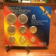 Monedas Juan Carlos I: ULTIMAS PESETAS DE CURSO LEGAL 2001 BLISTER DE 8 MONEDAS. Lote 263215530